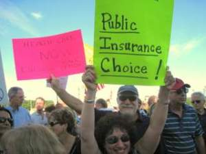 Pro health care supporters