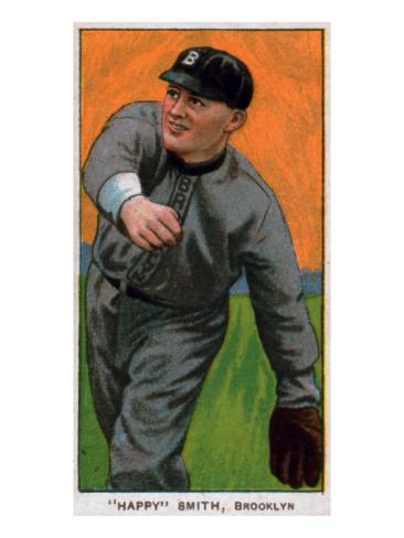 brooklyn superbas happy smith baseball card