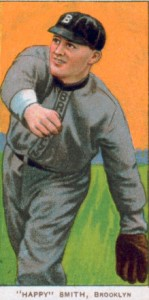 brooklyn superbas happy smith baseball card