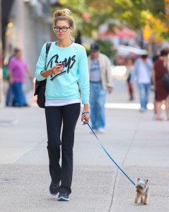 dog walker with cell phone