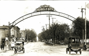 original Flint Vehicle City sign