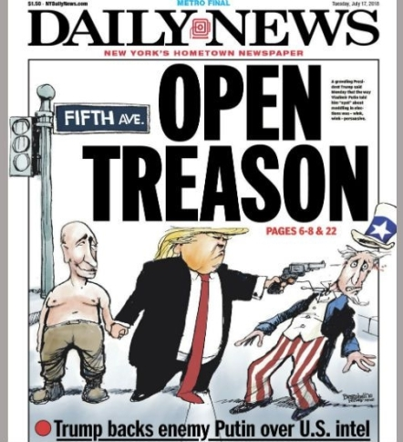 trump putin daily news cover